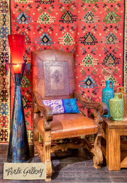 Tooled Leather Arm Chair eclectic