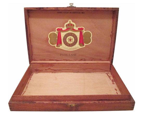 Cigar Box - Vintage cigar box with original decal, tag reads Royal Jamaica Co., Ltd, Park Lane.