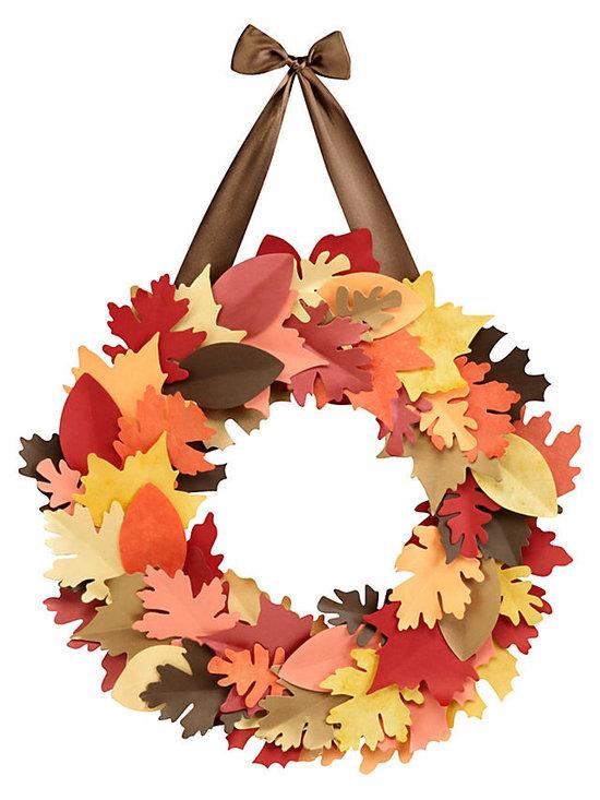 Fall Leaf Wreath Kit -