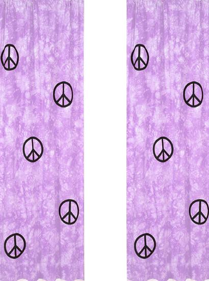 Purple Peace Window Panels (2 Pc.) contemporary-cellular-shades