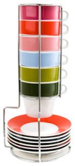 Espresso Set Tower contemporary-dinnerware