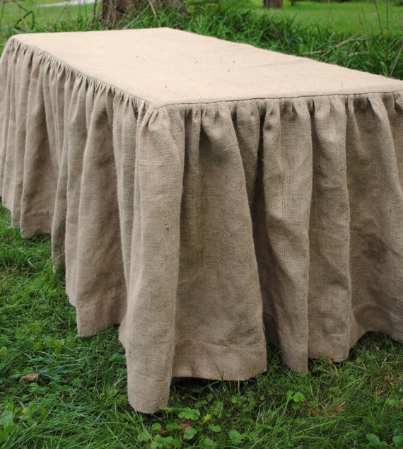 Burlap Tablecloth by Paula and Erika - Traditional - Tablecloths - by Etsy