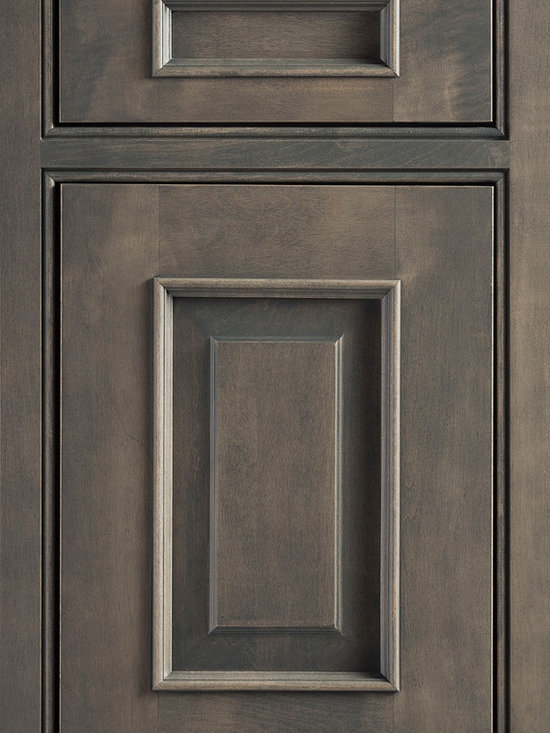 """Dura Supreme Cabinetry - Dura Supreme Cabinetry Montego Inset Cabinet Door Style - Dura Supreme Cabinetry """"Montego"""" inset cabinet door style in Cherry shown with Dura Supreme's """"Cinnamon"""" stain with """"Charcoal"""" Glaze finish. (With beaded frame)"""