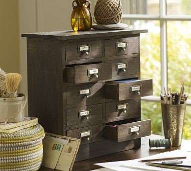 Desk Hutch Storage | Pottery Barn  storage and organization
