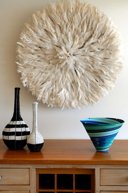 Wall Decor And Accessories : Bamileke feather headdress white juju hat eclectic