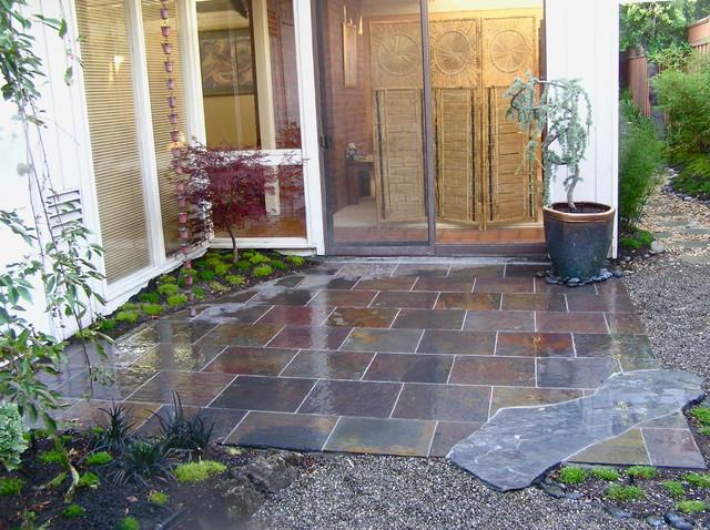 Japanese style garden eichler home asian san for Japanese style garden house