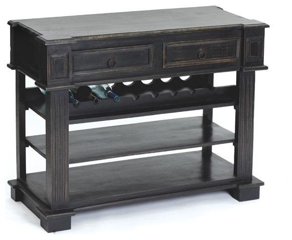 Sonoma Wood Cabinet in Handpainted Black - Dressers Chests And Bedroom ...