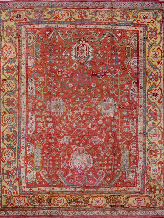 "Antique Turkish Oushak Carpets - #18727 antique Turkish Oushak carpet 9'0"" x 11'0"""