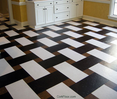 Basketweave Cork Tile Floor From Globus Cork Contemporary New York