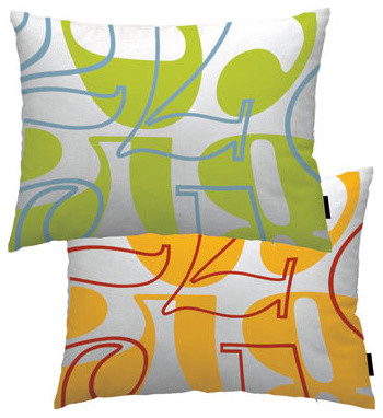 Count Throw Pillow contemporary pillows