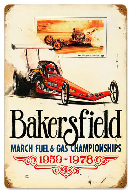 Bakersfield 59 to 78 Vintage Metal Sign modern-accessories-and-decor