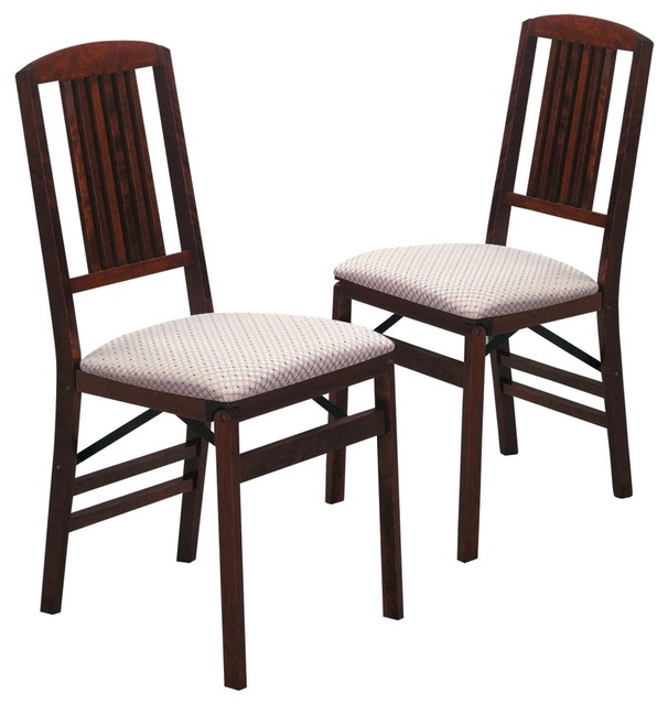 stakmore simple mission wood folding chairs with