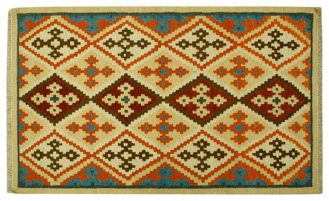 Oriental Rug Flat Weave Hand Woven Reversible Anatolian Kilim Rug Sh6429 traditional-area-rugs