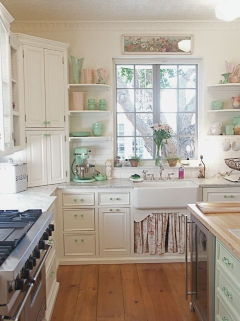 Hers: Shabby Chic Make-Martha-Proud Homegrown Goodness Kitchen