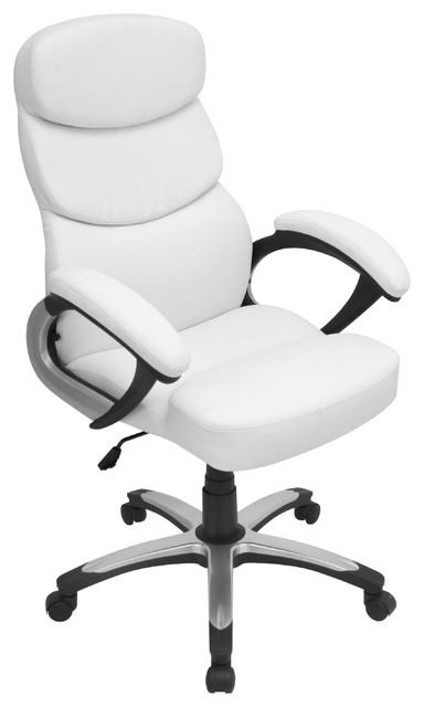 Doctorate Office Chair - WHITE - contemporary - task chairs