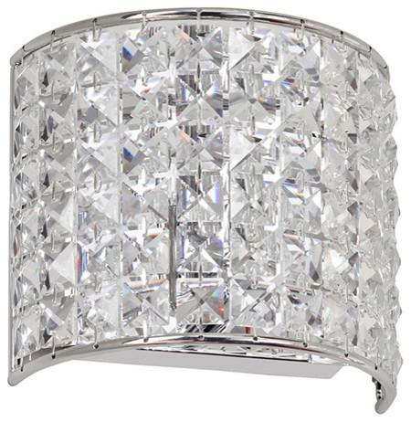Dainolite 1LT Crystal Sconce modern-wall-sconces