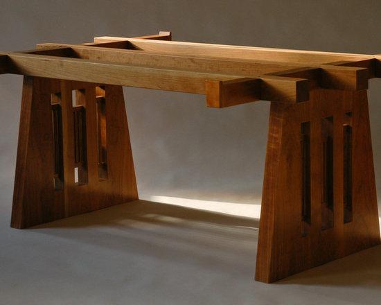 Desk, cherry - Designed by Rita St. Clair & Associates, Baltimore.