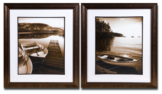 Island Transport Framed Art Set of 2 traditional-artwork