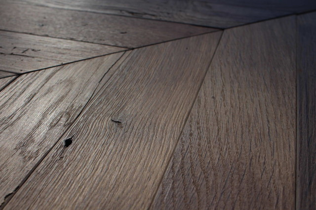 Wood Floor Creations Made Of Reclaimed Antique French Oak Planks
