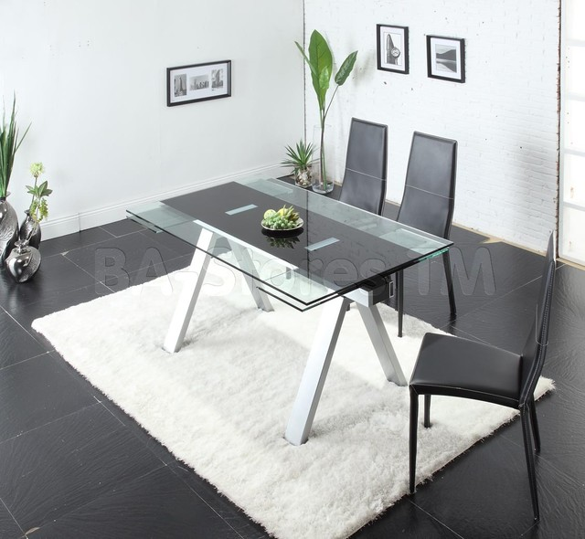 Primo 7 Pcs White Dining Set Table and 6 Chairs  : contemporary dining sets from www.houzz.com size 640 x 590 jpeg 78kB