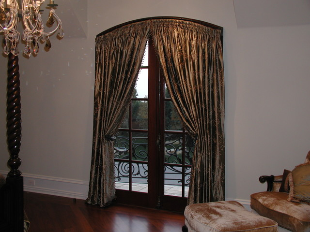 Custom window treatments traditional interior doors for Custom closet doors los angeles