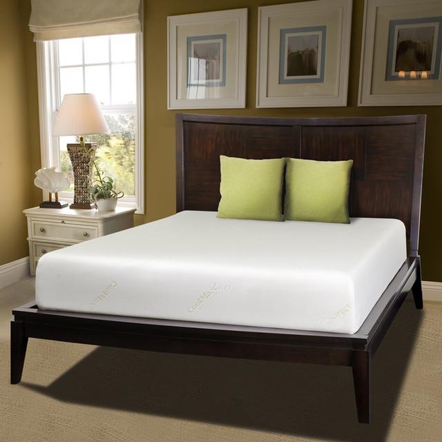 Comfort Dreams Coolmax 10-inch Queen-size Memory Foam Mattress contemporary-mattresses
