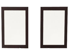 Set of 2 Bathroom Mirrors with Solid Wood Trim in Espresso modern-bathroom-mirrors
