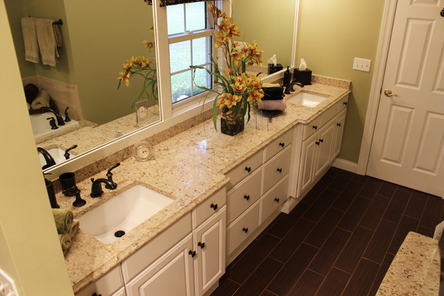 Master Bath Remodel West Akron OH 1 Transitional Vanity Tops And Side