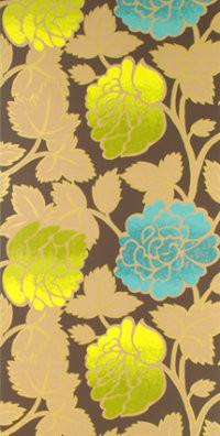 Sarafan Wallpaper, Chocolate eclectic wallpaper
