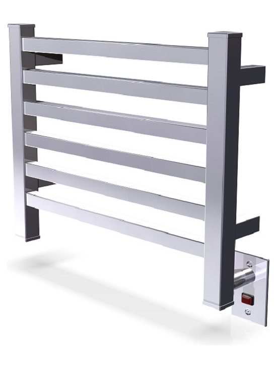 Amba - Edged 20x16 Electric Heated Towel Warmer, Polished - Dual-purpose radiator functions as towel warmer and space heater