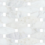 Bianco Carrara Octagono (Blank Dots) Polished Mosaic traditional bathroom tile