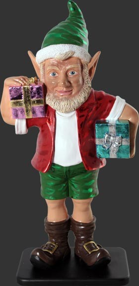 Christmas Elf Holding 2 Gifts, 3FT christmas-decorations