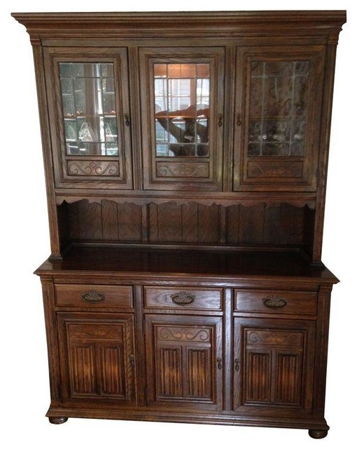 Pre-owned Ethan Allen Royal Charter Oak China Cabinet - Transitional - China Cabinets And ...