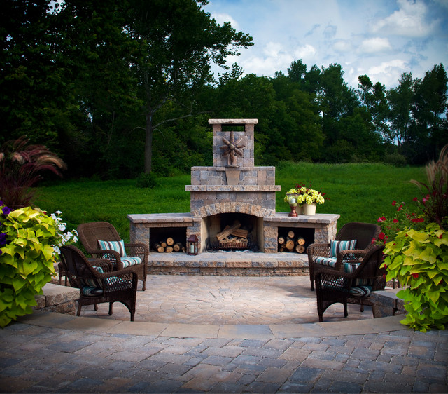 Fireplaces Traditional Fire Pits Charlotte By Blue