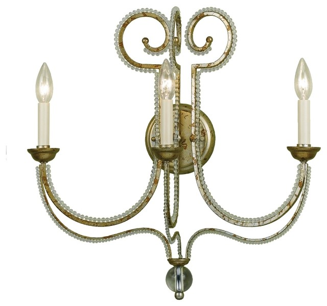 Traditional Cottage Wall Lights : Country - Cottage Candice Olson Camerson 3-Light Wall Sconce - Traditional - Wall Sconces - by ...