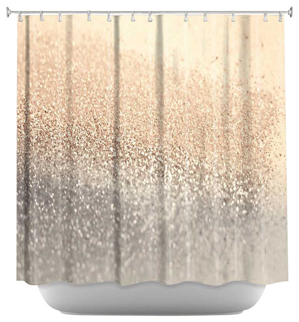 Coral And Grey Curtains Gold Love Shower Curtain