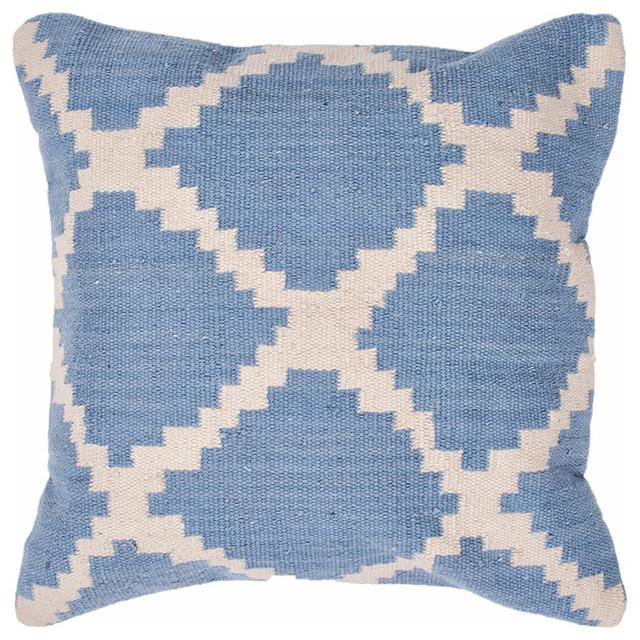 Cadiz Pillow, Sky Blue & Ivory Set of 2 contemporary-decorative-pillows