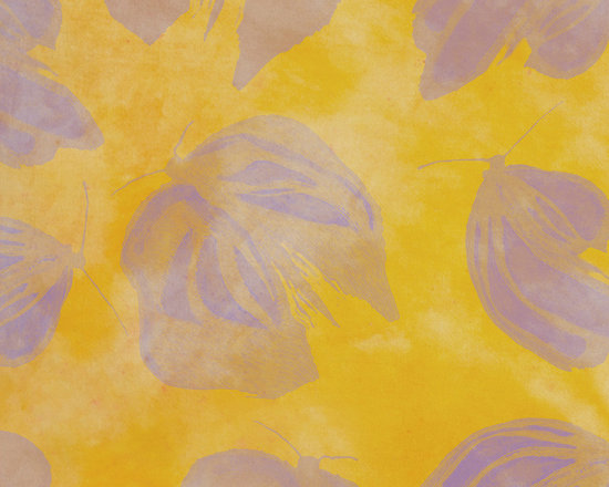 e Wings Dots Honey Gold Designer Fabric - Inspired by hand painted artisan fabric ~ Butterfly silhouettes in Pink Flambe on a backdrop of tone on tone Honey Gold ~ pure passion! Mix & match with others in the collection for a medley of fabulous hand painted yardage.