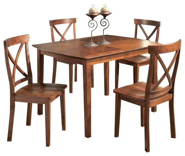 48 Inch Rectangular Dining Table In Cherry Traditional Dining Tables