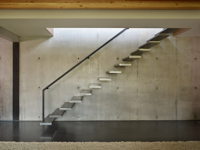 West Seattle Residence industrial-staircase