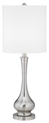 Possini Euro Design Satin Steel Slim Gourd Table Lamp contemporary-table-lamps