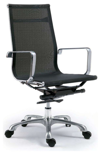 Moe's Home Sigma High Back Office Chair in Black (Set of 2) contemporary-home-office-products