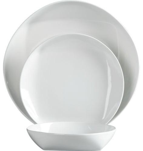 Rare White Dinnerware Modern Dinnerware By Cb2
