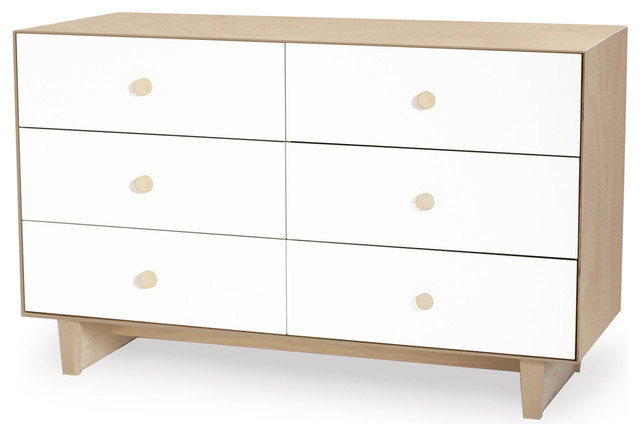 Merlin Dresser With Rhea Base, Birch/White modern-kids-dressers-and-armoires