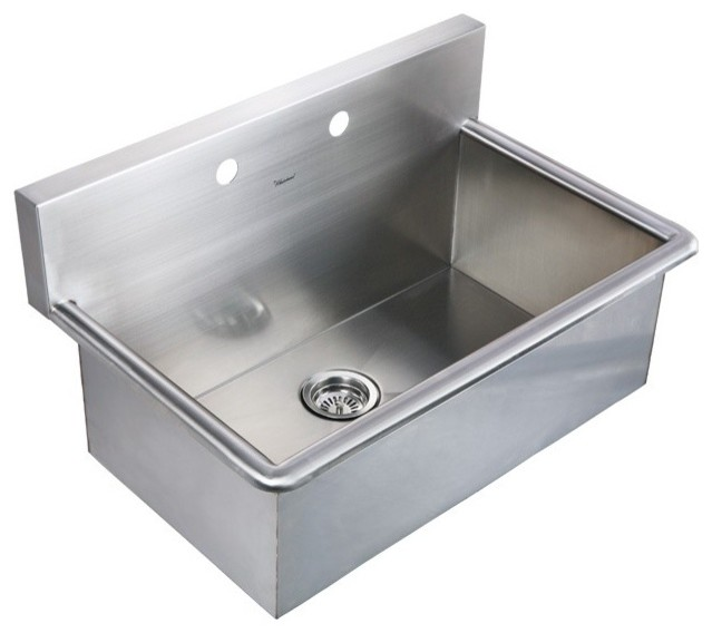 "Whitehaus WHNC3120 31"" Noah Stainless Steel Laundry / Utility Sink - Modern - Kitchen Sinks - by ..."