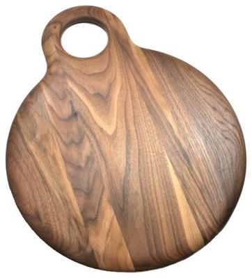 Walnut Round Slab Cutting Board traditional-cutting-boards