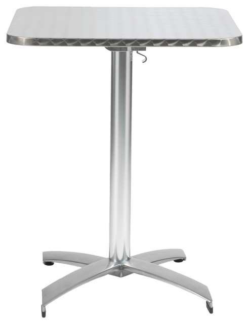 Arden 24 Square Table Stainless Steel Aluminum