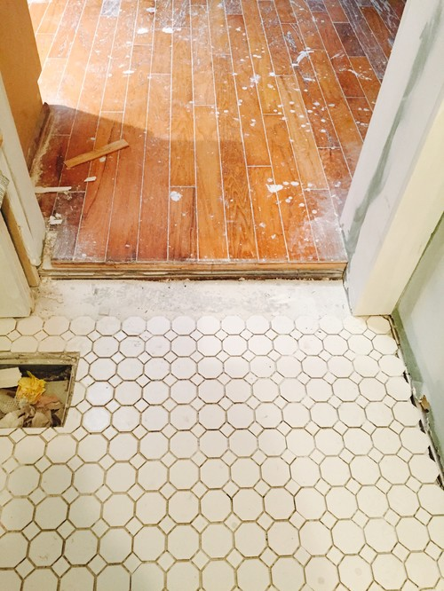 Tiling on uneven floor