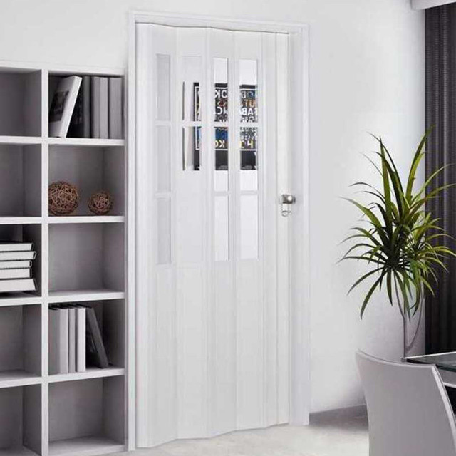 Homestyle Capri 32x80-inch White Folding Door - Contemporary - Windows And Doors - by Overstock.com
