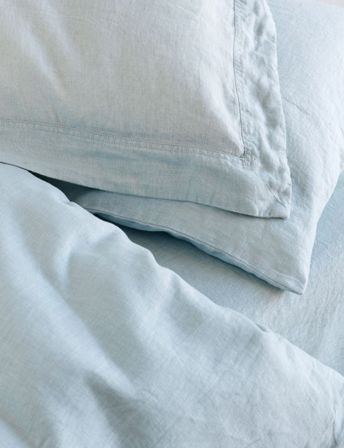 Washed Linen Bedding traditional-sheets